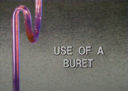 Use of a Buret
