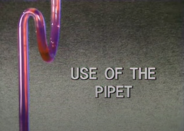 Use of a Pipet