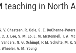 Anatomy of STEM teaching in North American universities