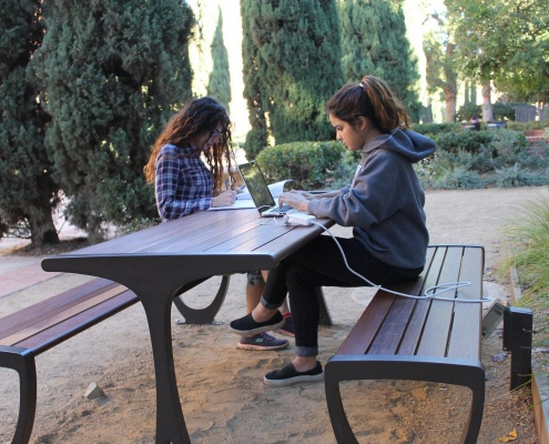 Newly renovated outdoor study spaces at UCLA