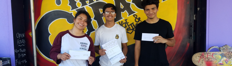 CBL Hire LA Internship participants' firts paycheck!