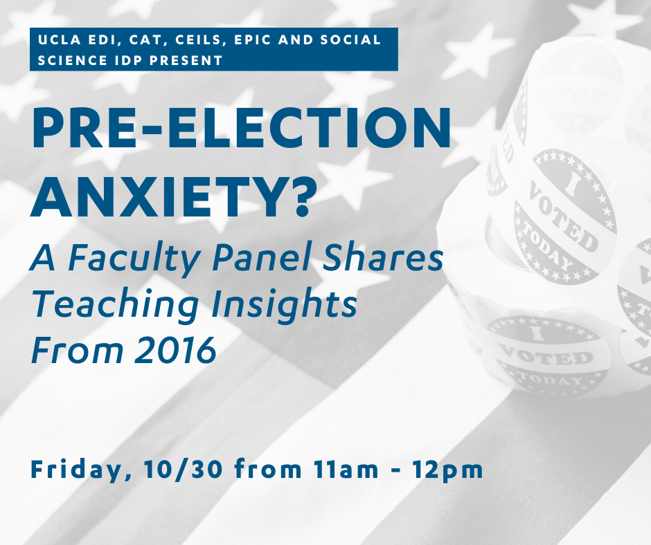 Pre-Election Panel for Faculty Flyer