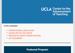 CAT Faculty Newsletter