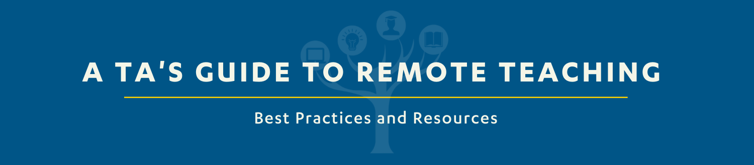 Page header: A TAs Guide to Remote Teaching